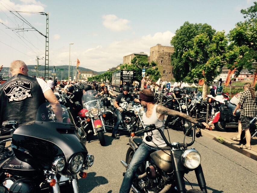 Stefan Dederichs auf Harley Treffen