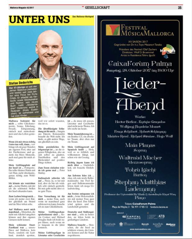 Artikel Mallorca Magazin Stefan Dederichs