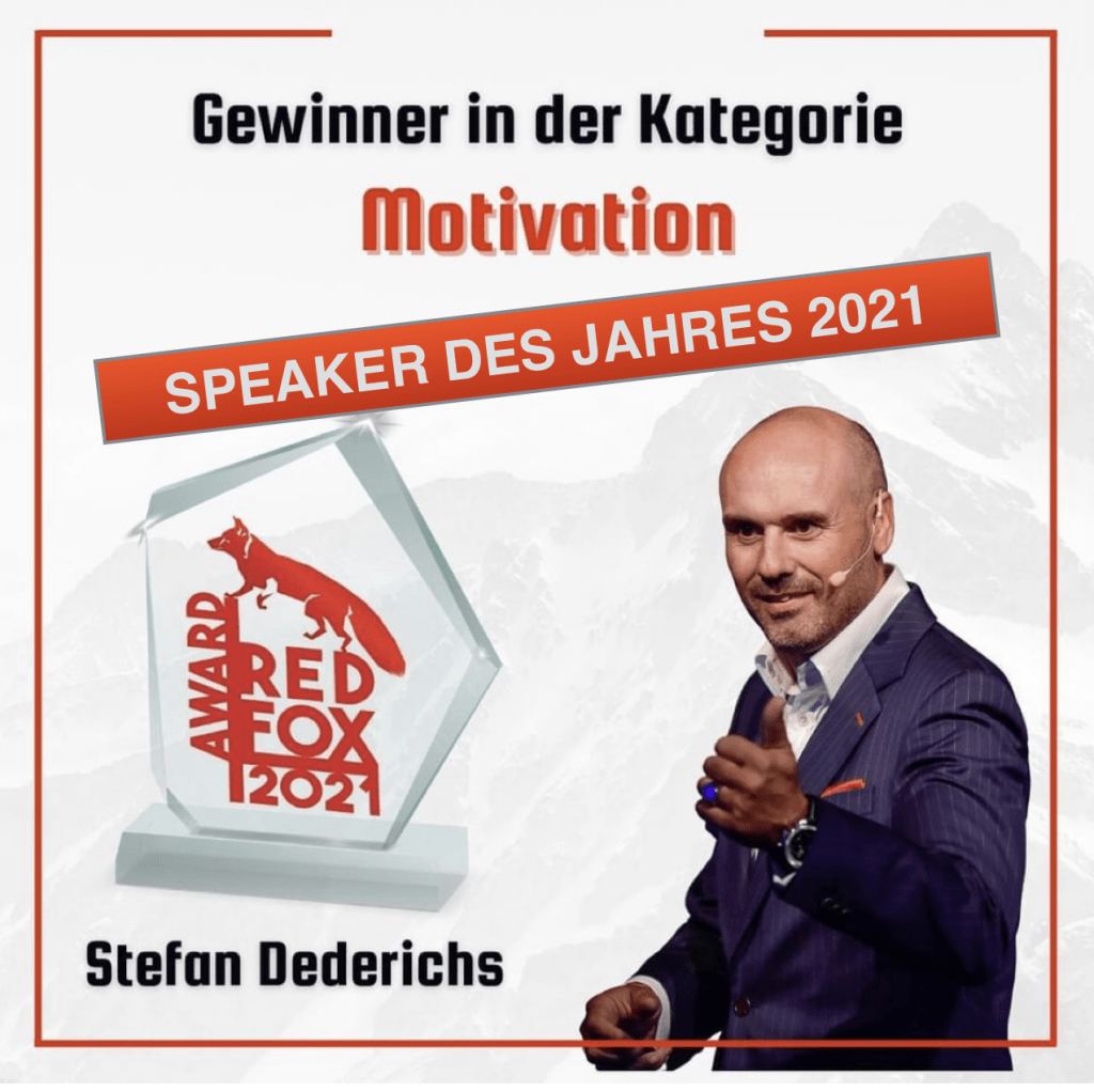 Speaker des Jahres Motivation Stefan Dederichs