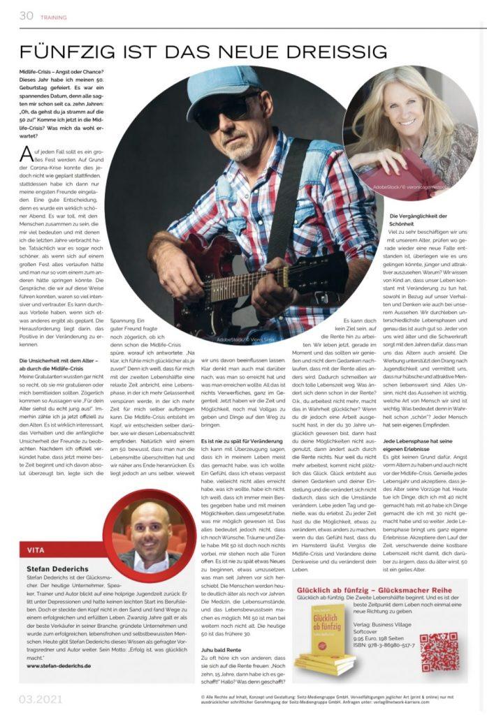 Netwerk Karriere Stefan Dederichs fünfzig ist das neue dreissig