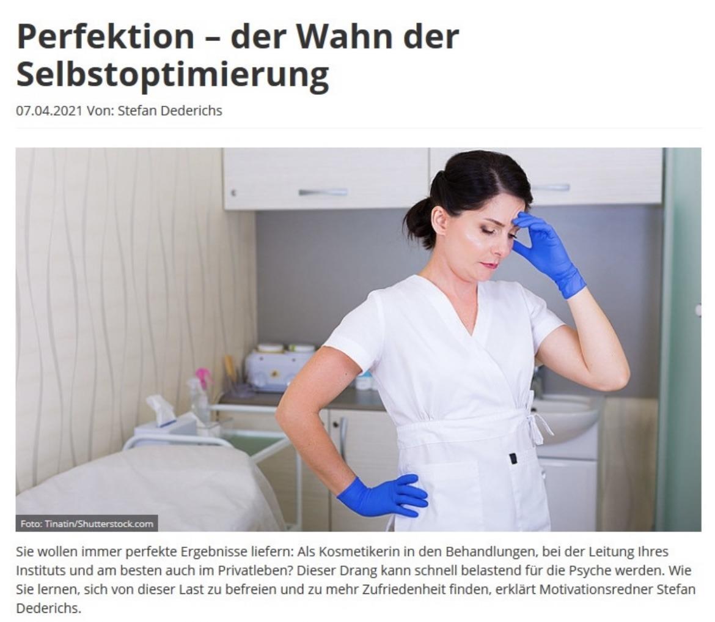 Beauty Forum Perfektion-der Wahn der Selbstoptimierung